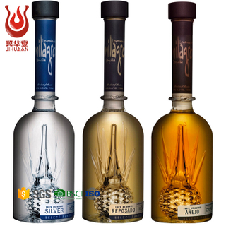 Vodka bottle glass 50ml 100ml 150ml 250ml 375ml 500ml 750ml wholesale superior quality glass bottle